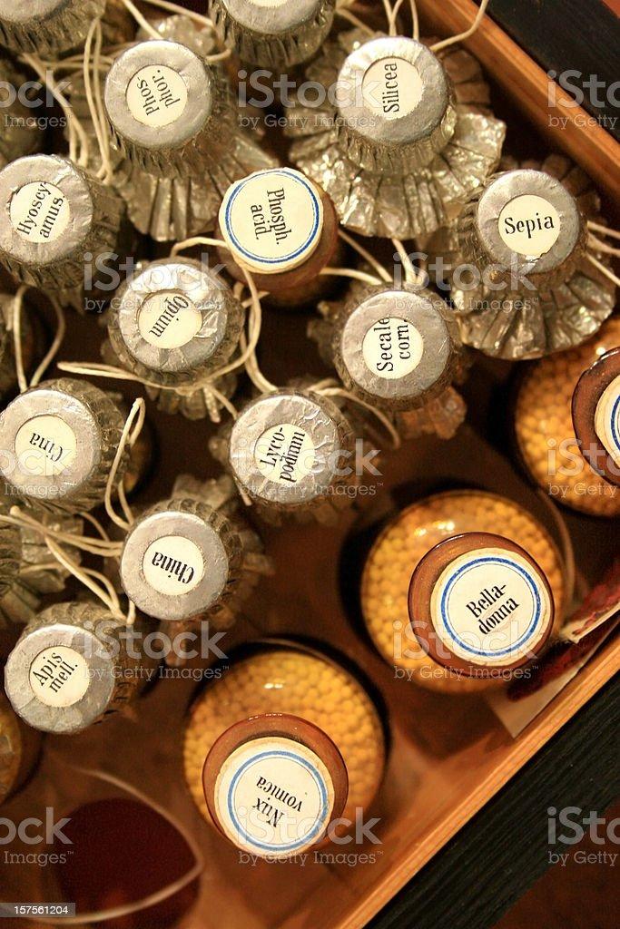 Antique Apothecary Bottles stock photo