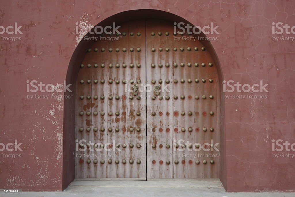 Antique Arch Door royalty-free stock photo
