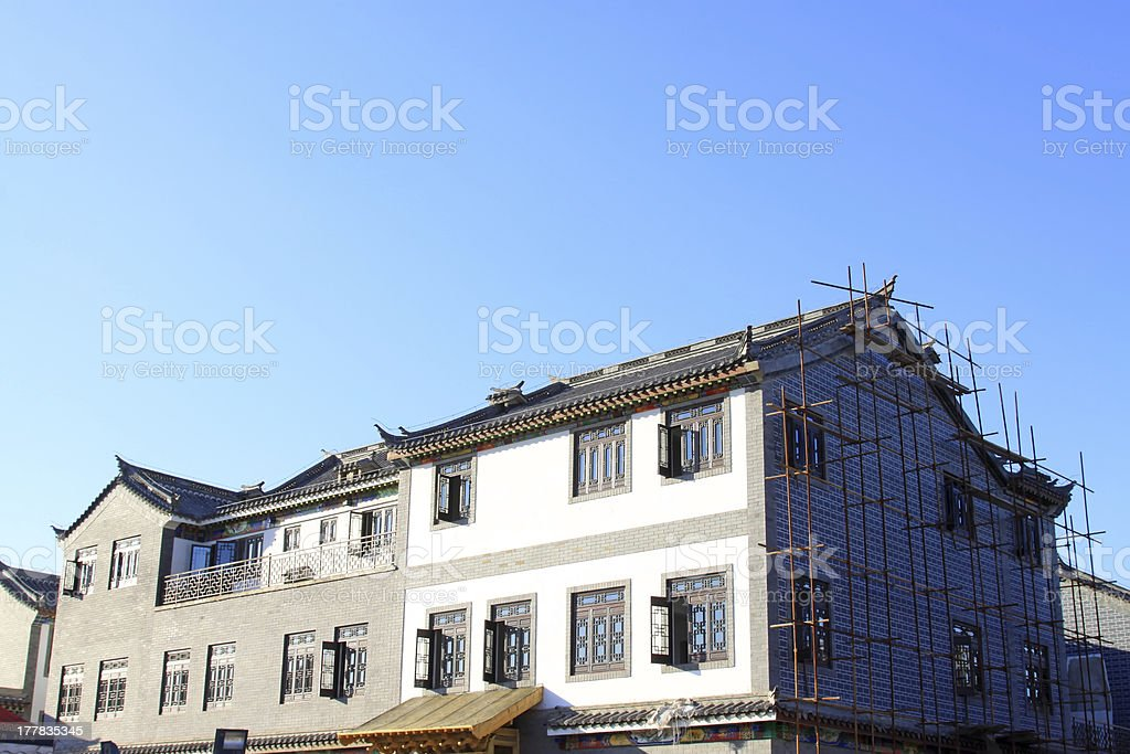 antique architectural landscape royalty-free stock photo