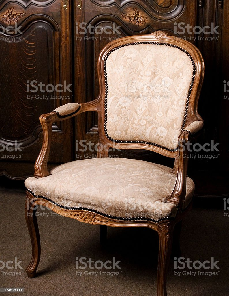 antique arm chair royalty-free stock photo
