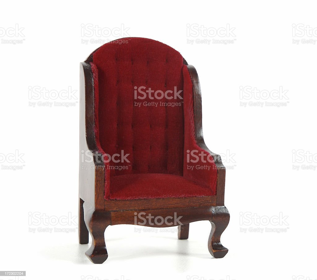 Antique armchair miniature royalty-free stock photo