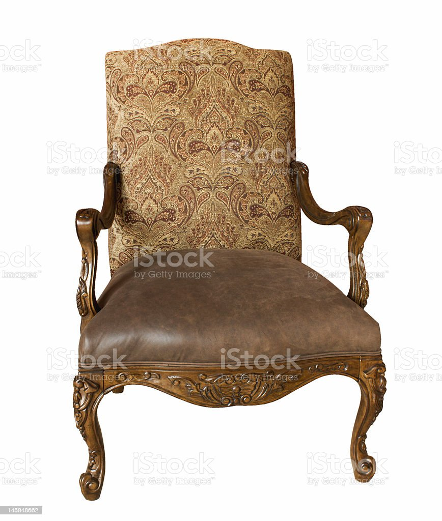 Antique armchair,isolated on white royalty-free stock photo
