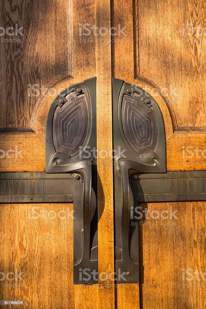 antique Art Deco Door Knob stock photo