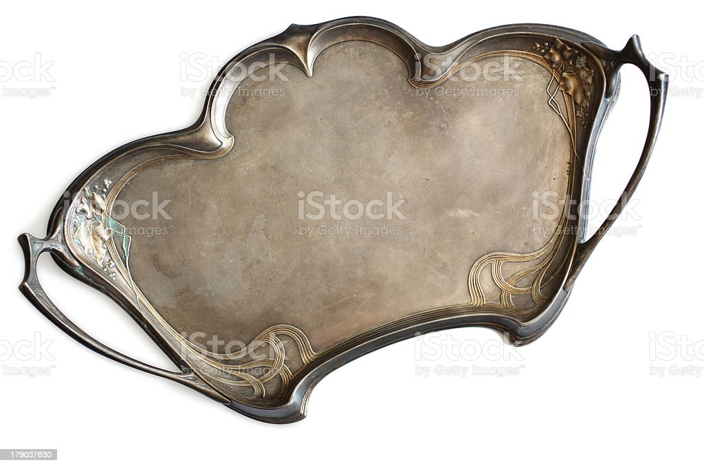 Antique Art Nouveau WMF Tray royalty-free stock photo