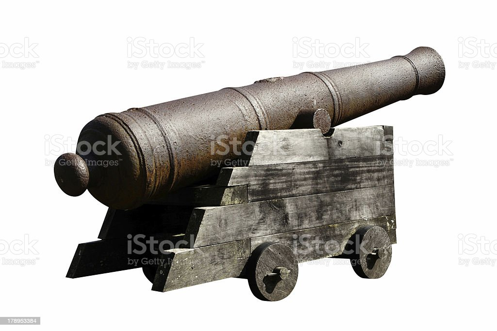 Antique artillery isolated royalty-free stock photo