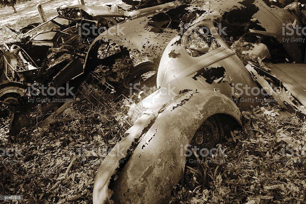 antique auto rusting stock photo