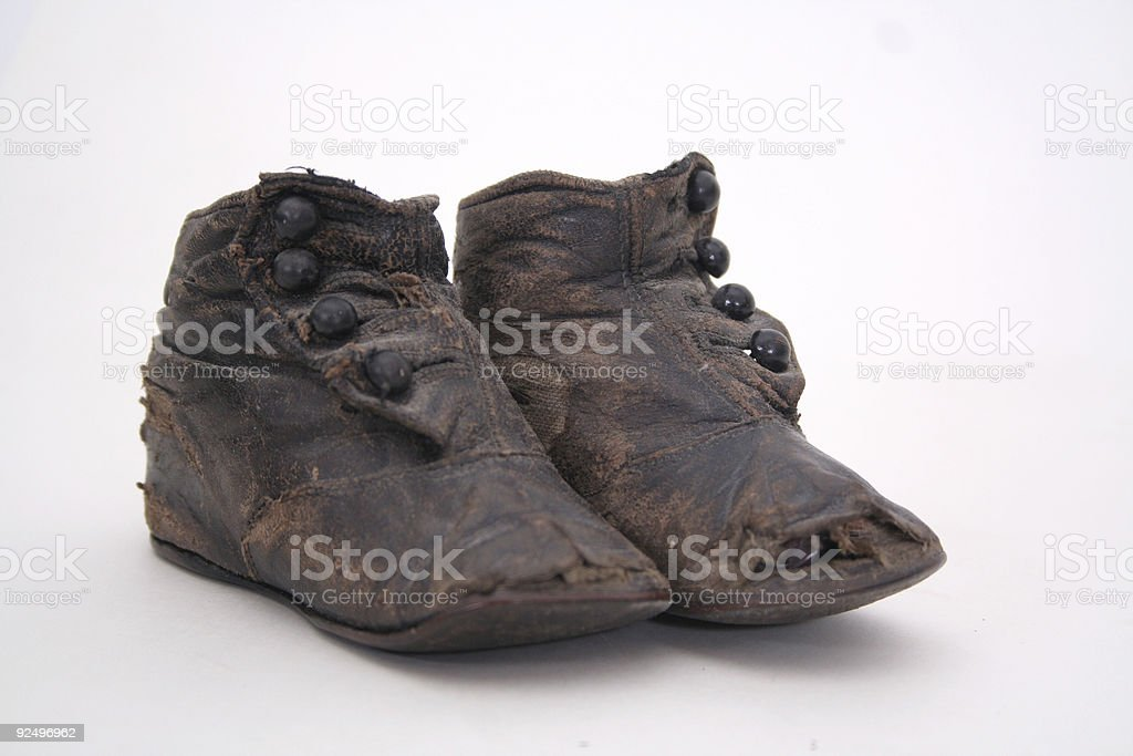 Antique baby shoes royalty-free stock photo