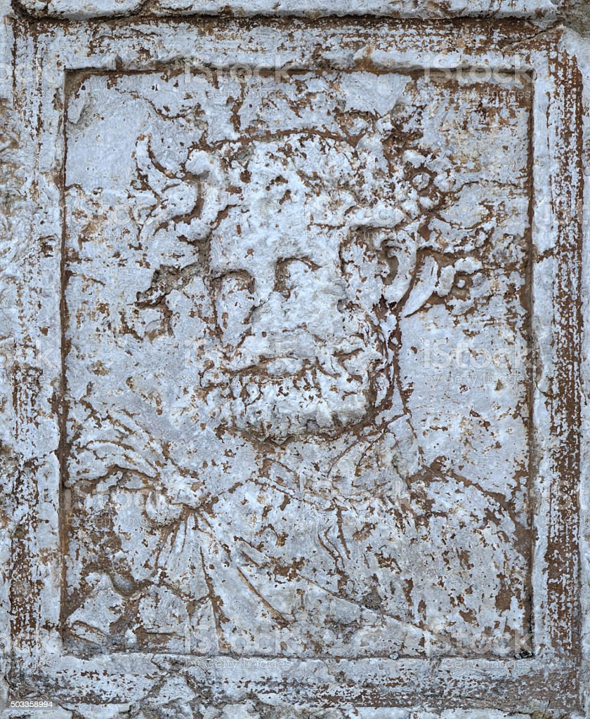 Antique Bacchus portrait stock photo
