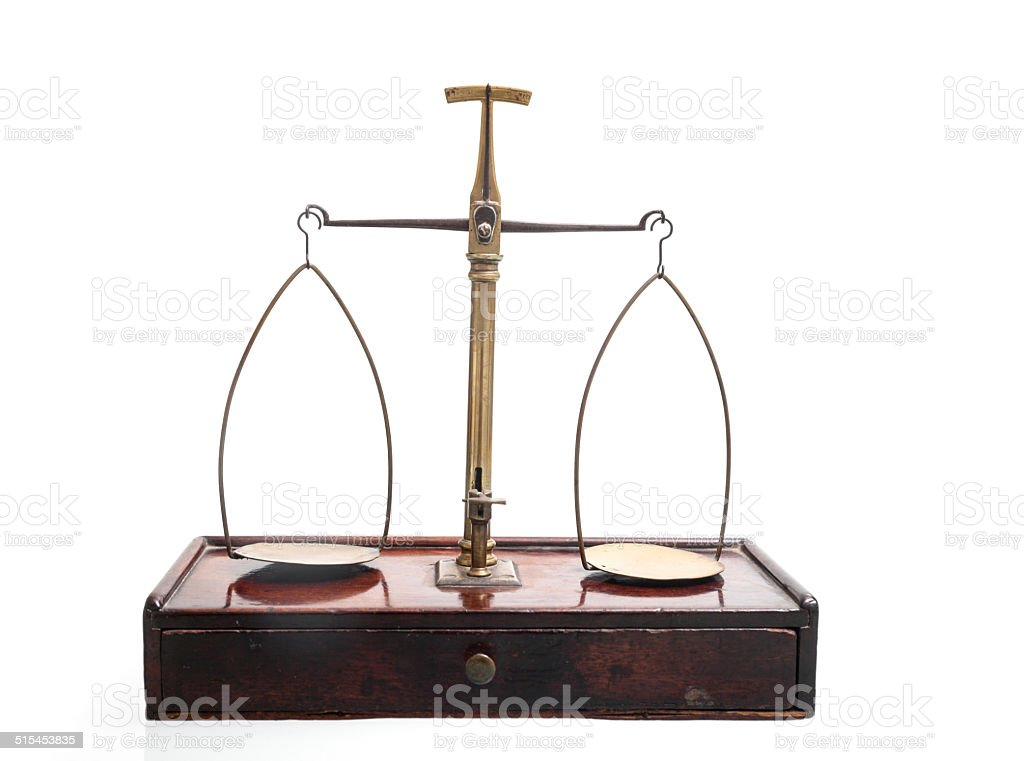 Antique balance stock photo