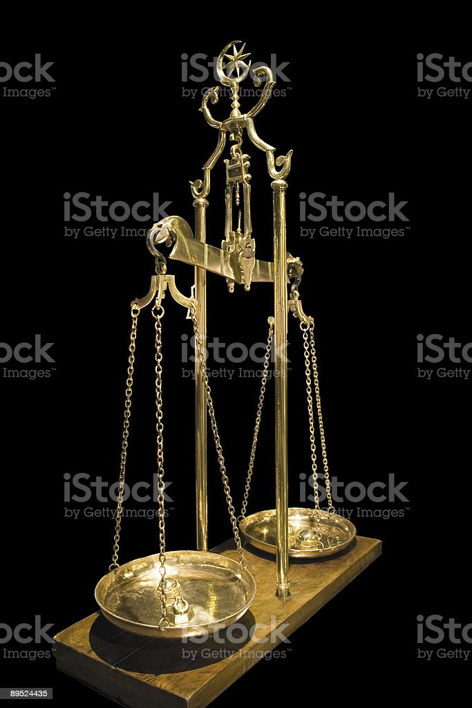 Antique balance royalty-free stock photo