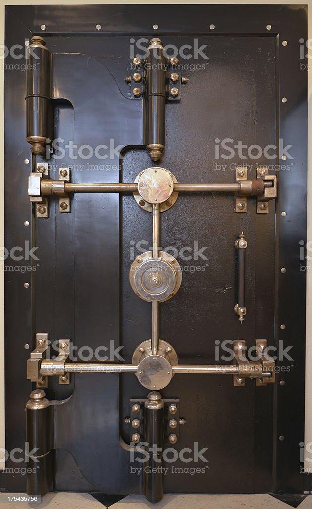 Antique Bank Vault Door royalty-free stock photo