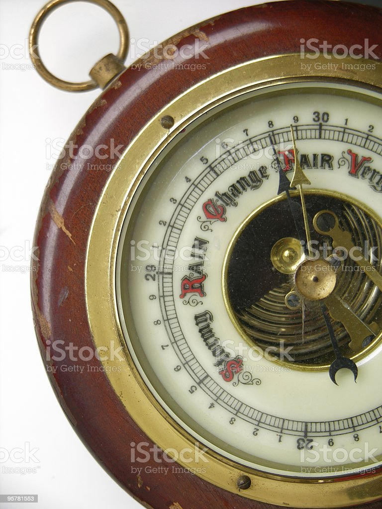 Antique Barometer royalty-free stock photo