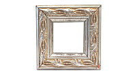 Antique baroque silver frame isolated on white