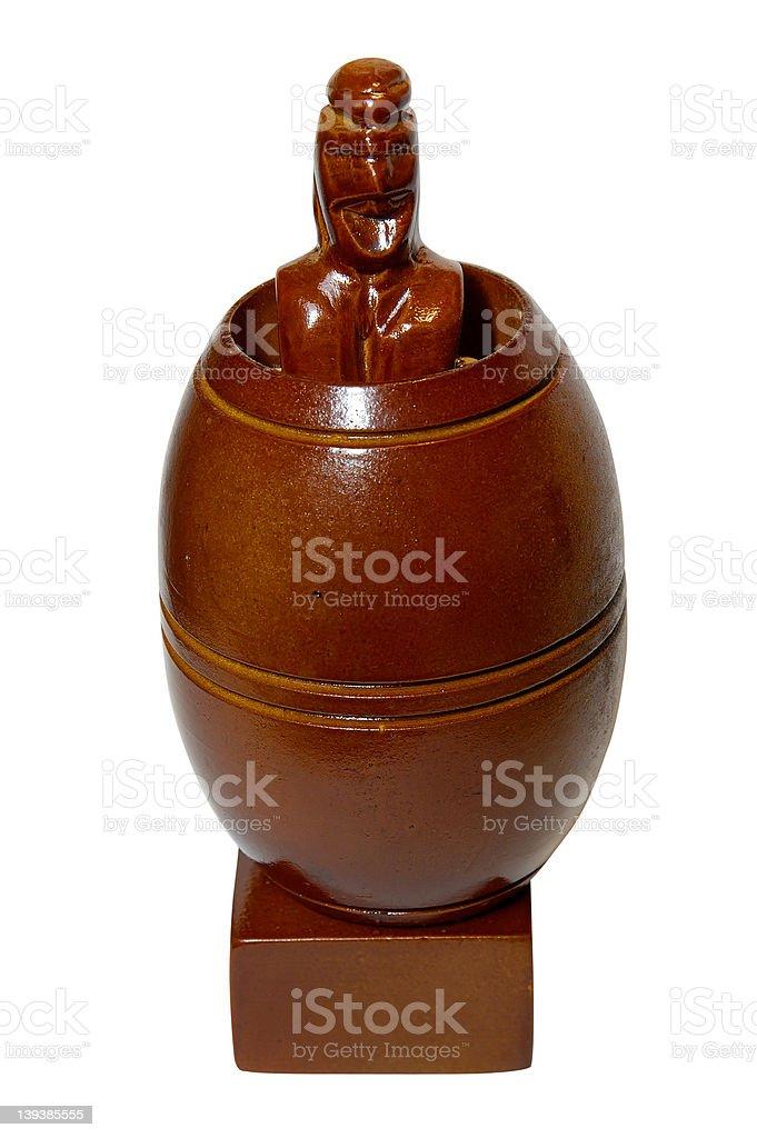 Antique Barrel Man Statue w/Paths royalty-free stock photo