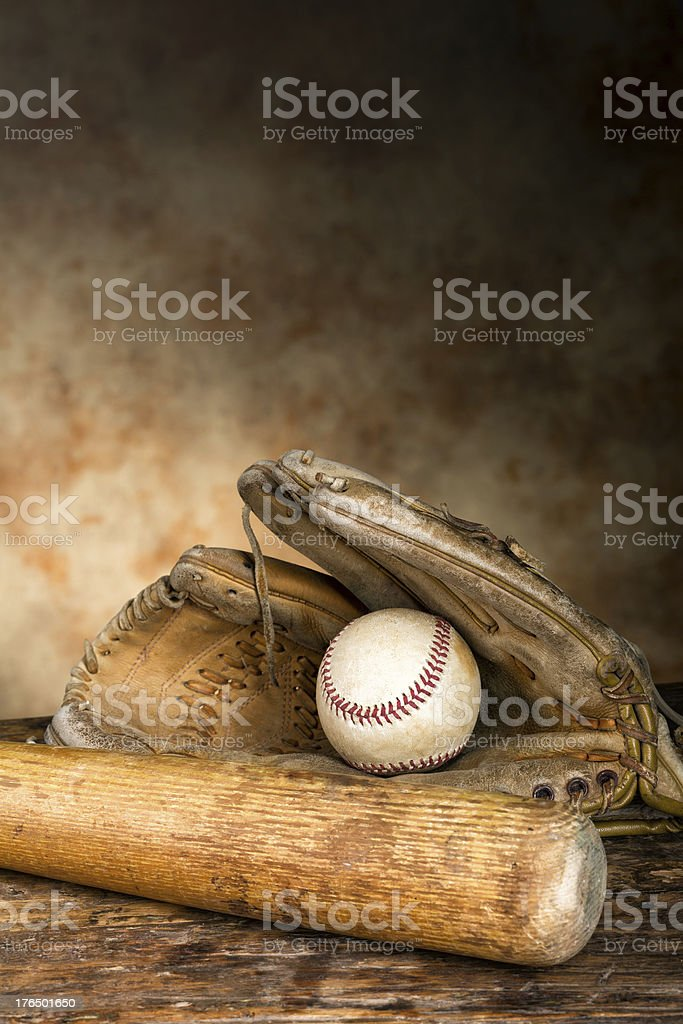 Antique baseball gear stock photo