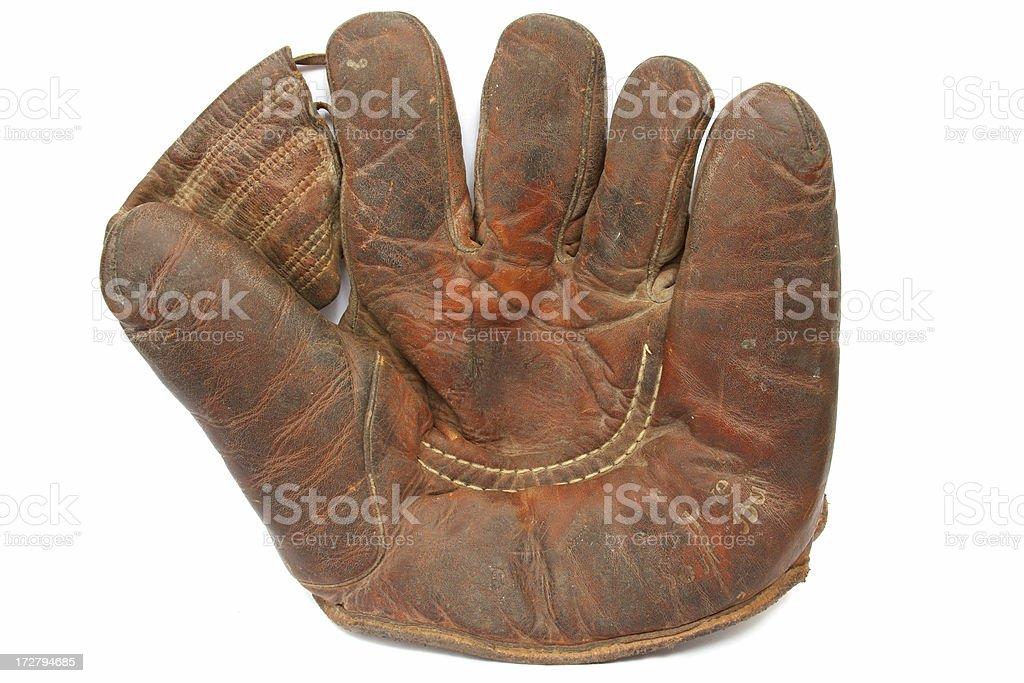 Antique Baseball Glove royalty-free stock photo