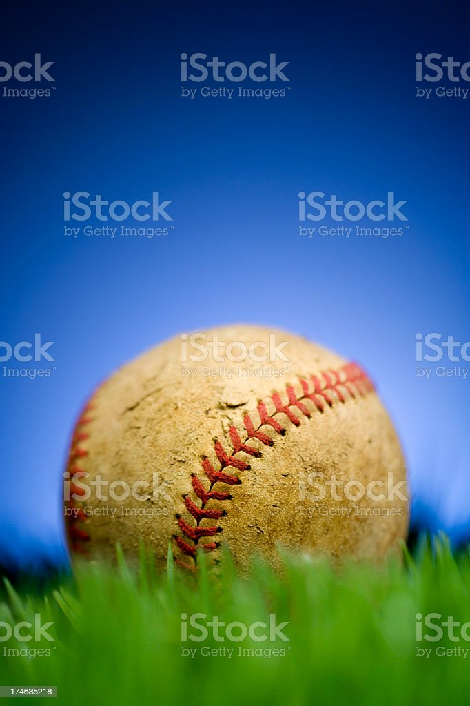 Antique Baseball royalty-free stock photo