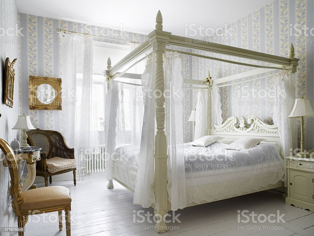 Antique bedroom stock photo