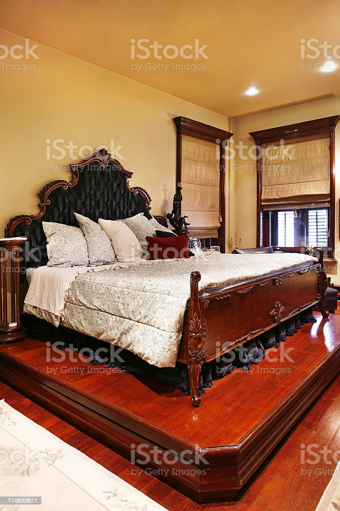 antique bedroom royalty-free stock photo