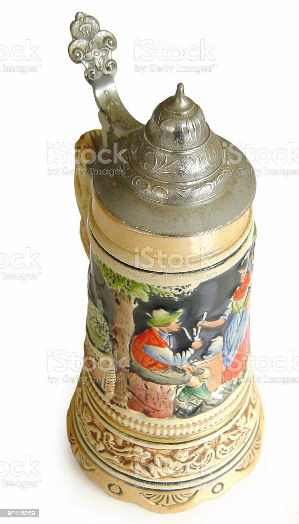 Antique Beer Jar royalty-free stock photo