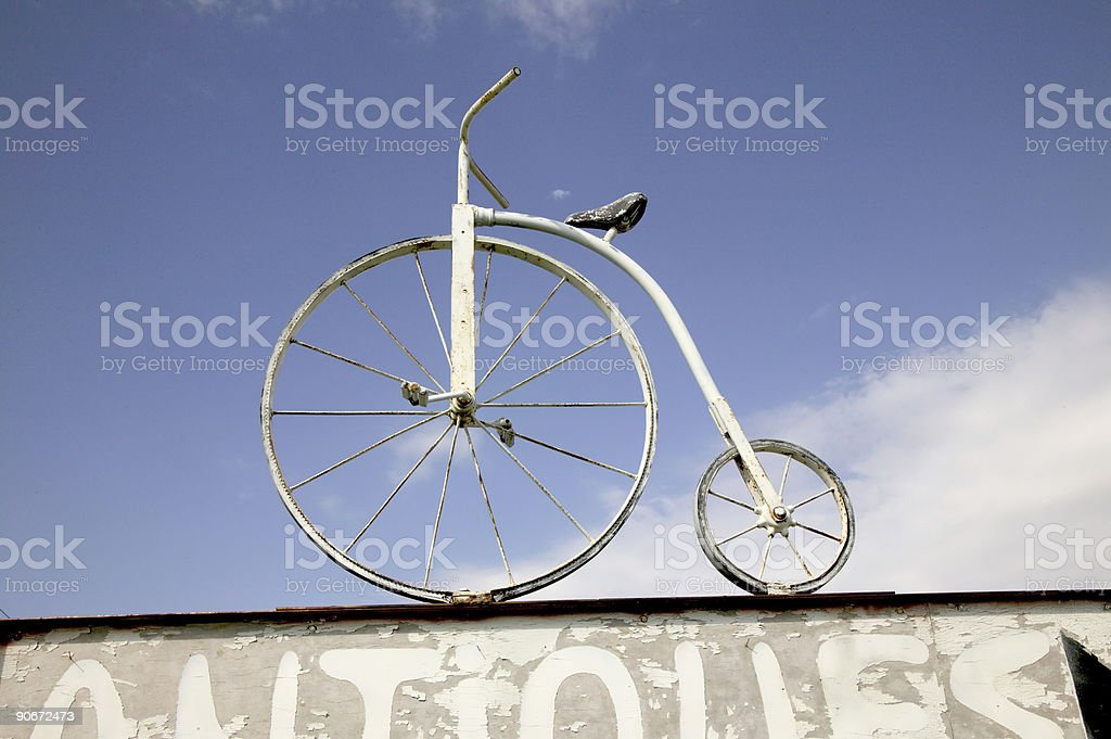 Antique bike royalty-free stock photo