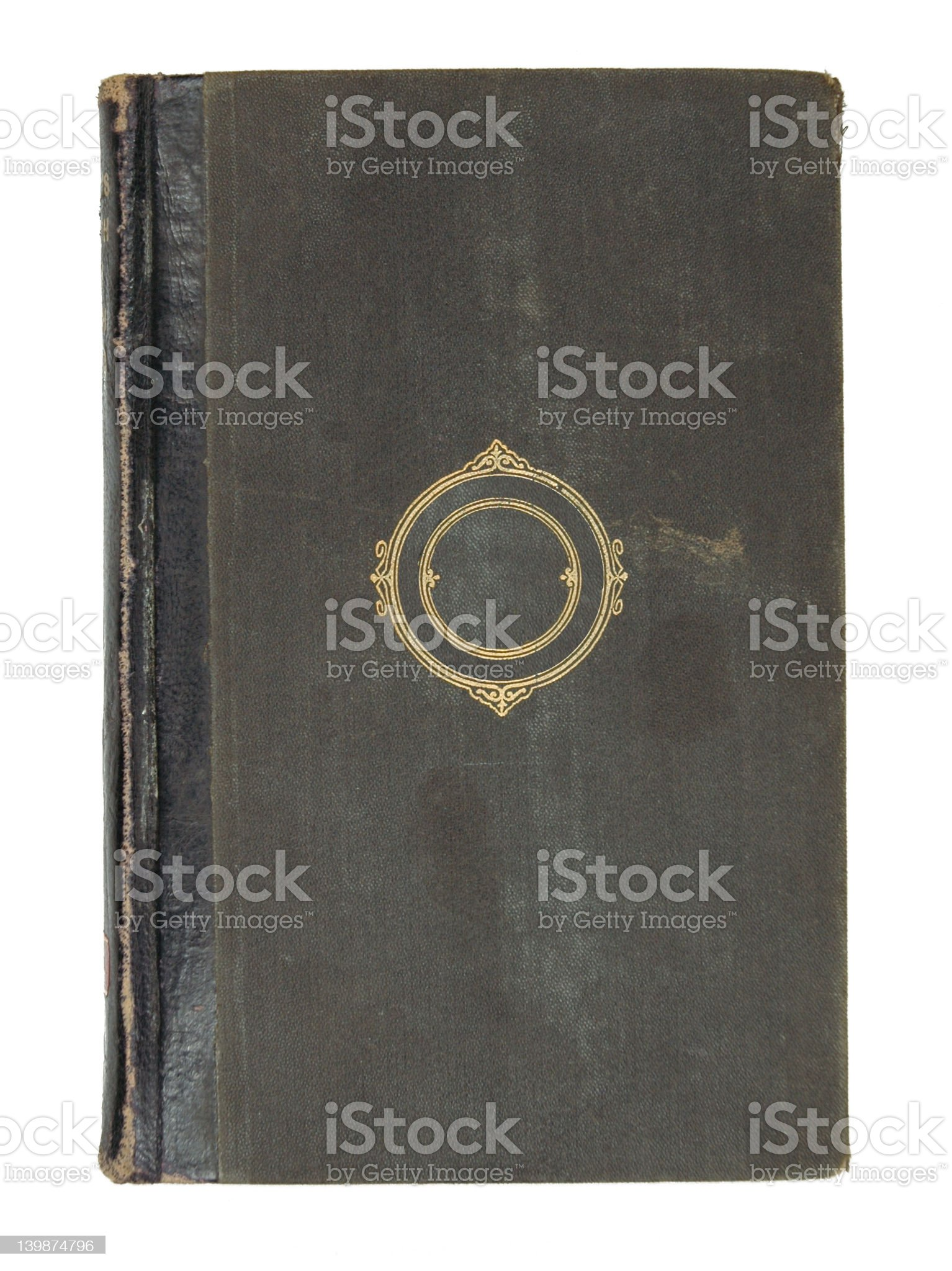 Antique Black Book royalty-free stock photo