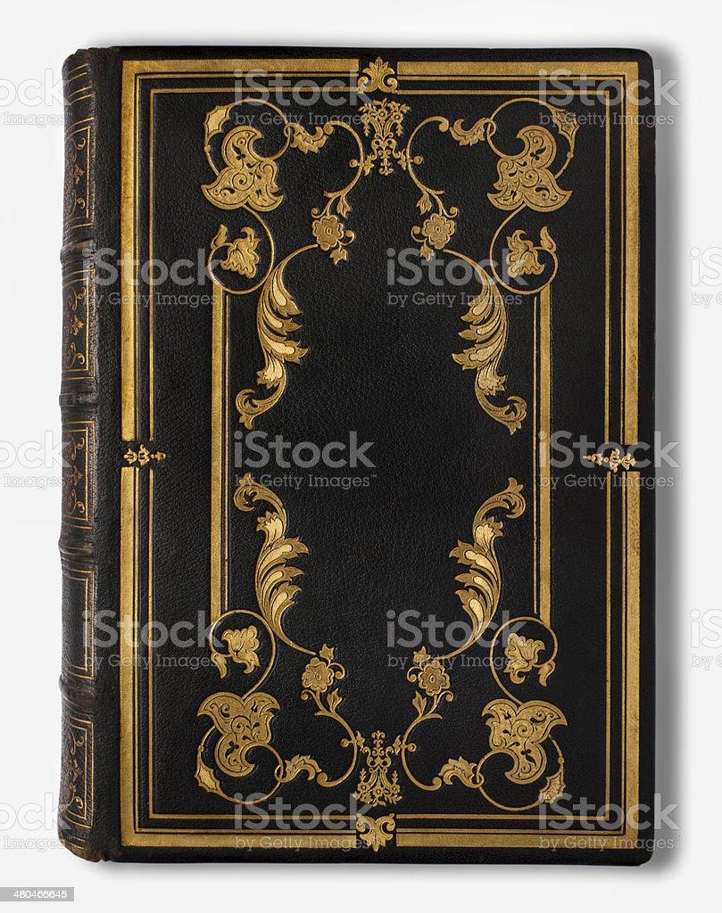Antique Blank Book stock photo