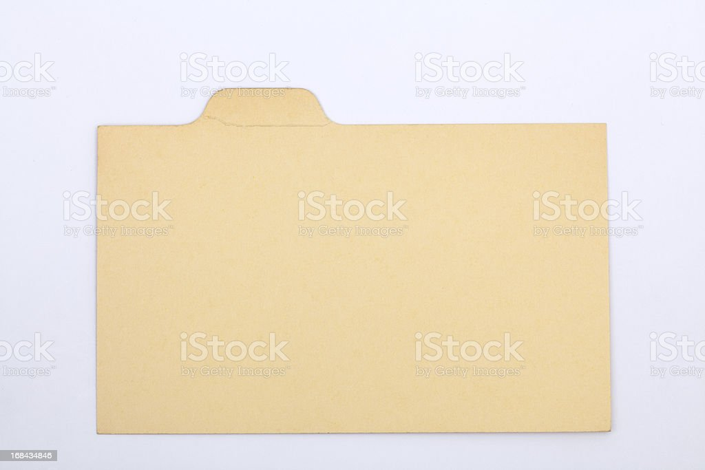 Antique Blank Index Recipe & Old Fashioned Card, Vintage Paper Background royalty-free stock photo