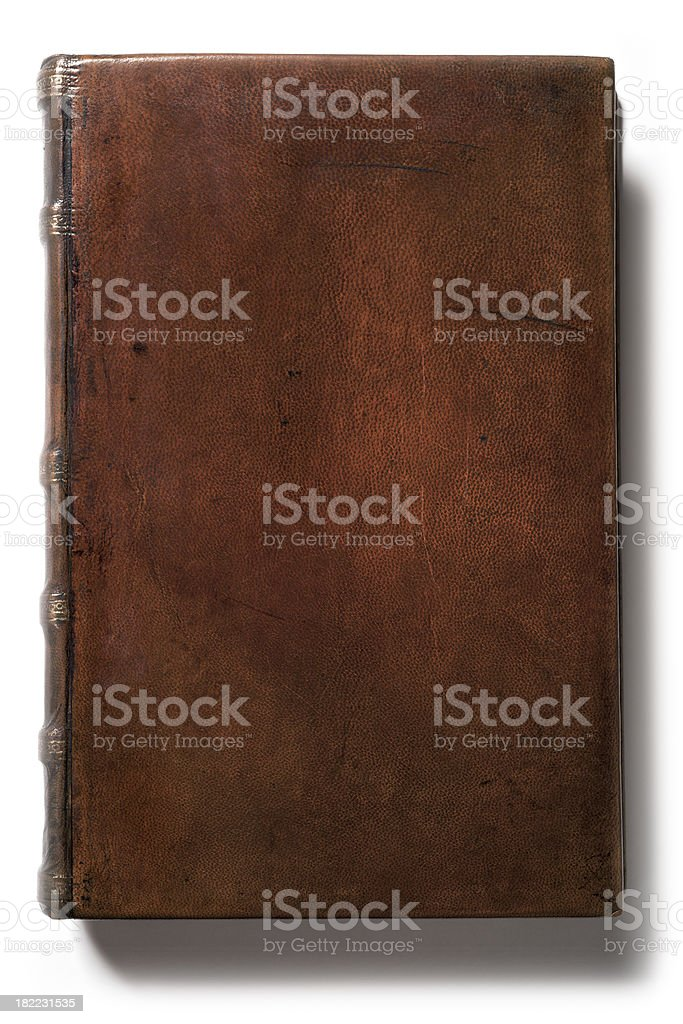 Antique Blank Leather Book stock photo