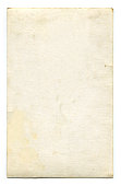 Antique blank postcard with clipping path