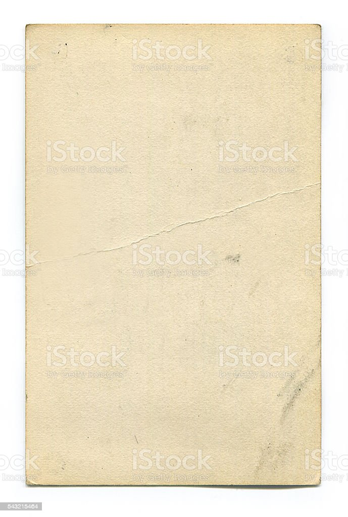 Vuoto d'epoca Cartolina con clipping path foto stock royalty-free