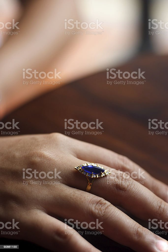 Antique bling: peranakan Chinese ring royalty-free stock photo