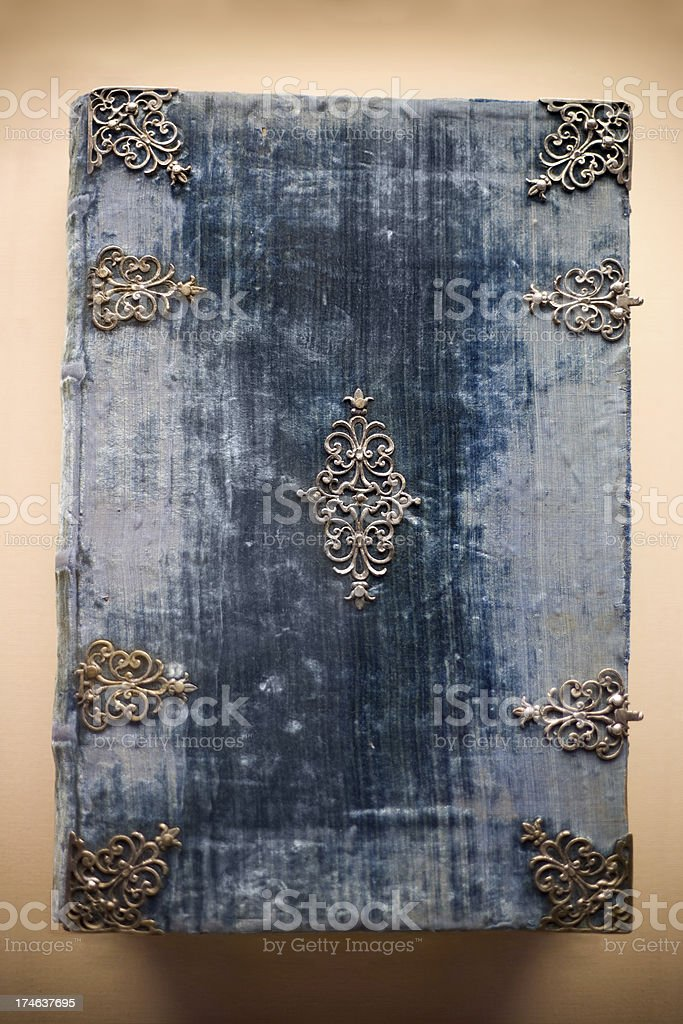Antique Blue Book royalty-free stock photo