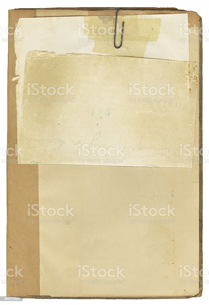 Antique Book and Note Paper royalty-free stock photo