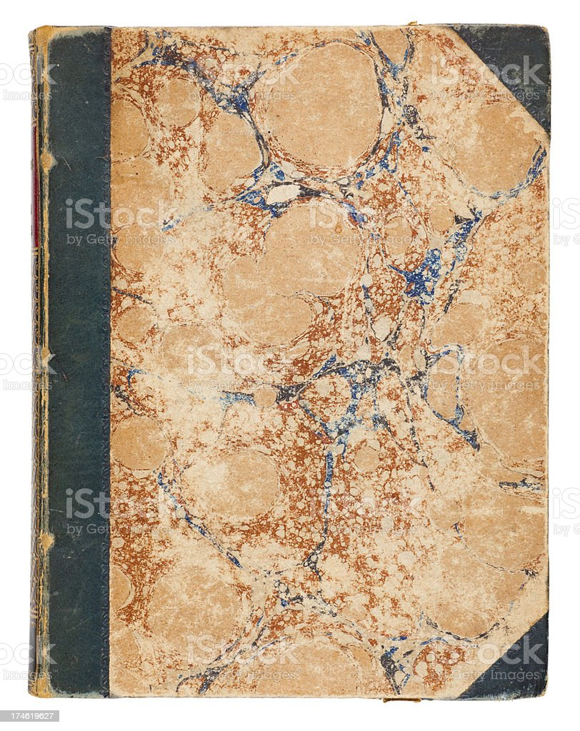 Antique Book Cover royalty-free stock photo
