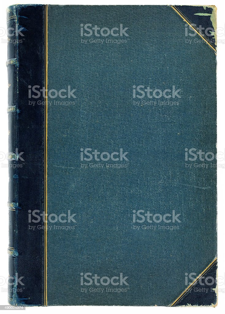 Antique book cover stock photo