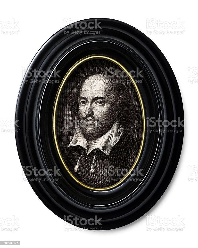 Antique book illustration: William Shakespeare stock photo