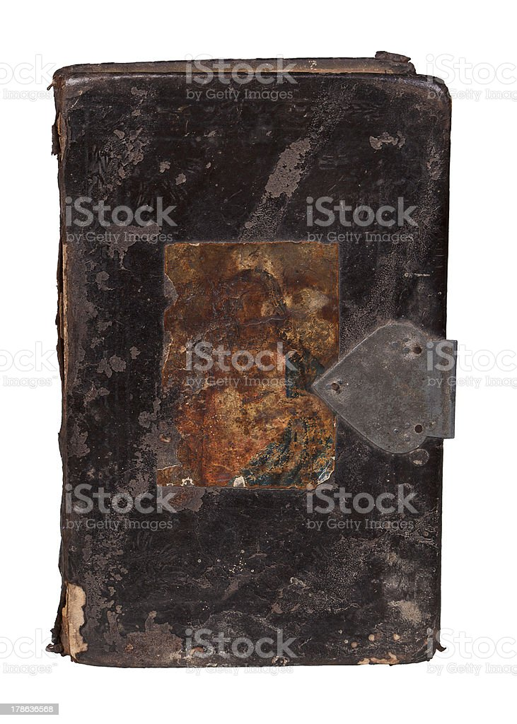 Antique book isolated on white. stock photo