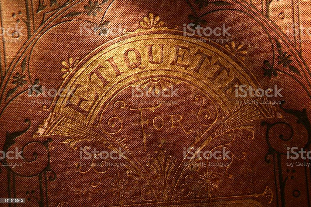 Antique Book of Etiquette 2 stock photo