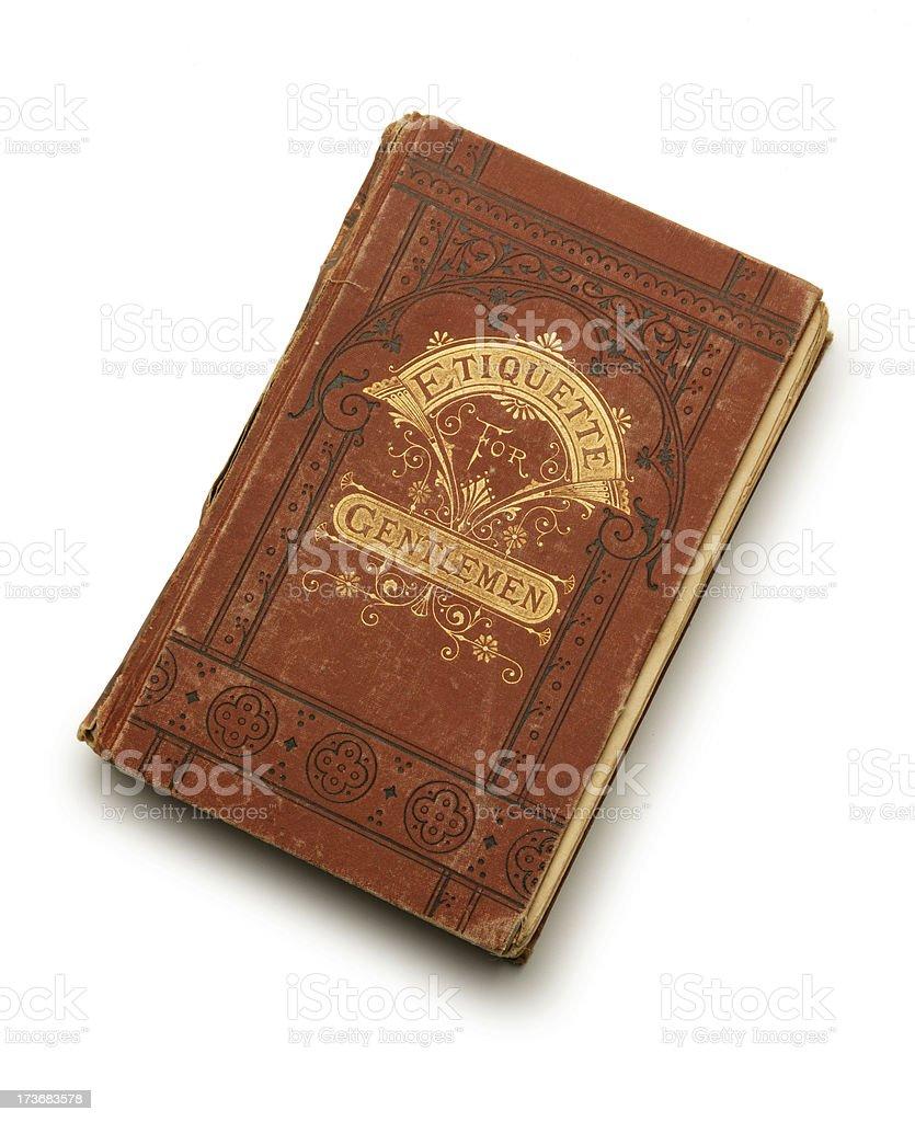 Antique Book of Etiquette stock photo