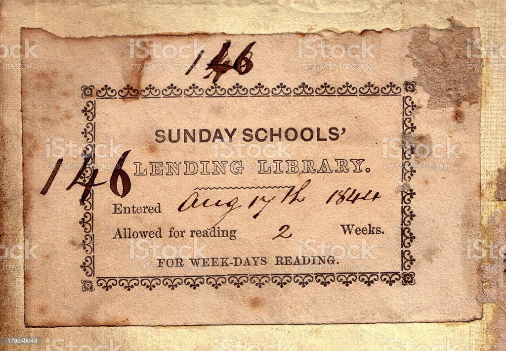 Antique Book Plate royalty-free stock photo
