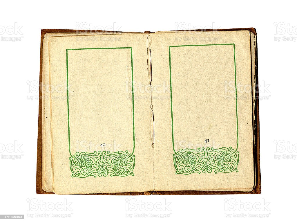 Antique Book with Borders royalty-free stock photo