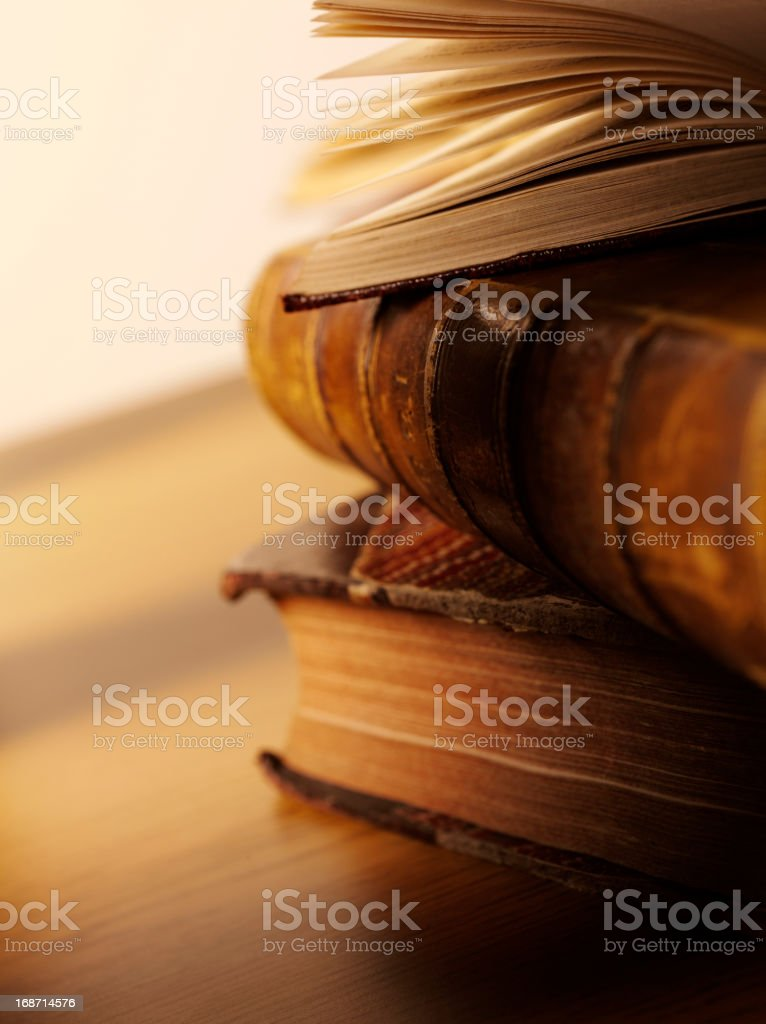 Antique Books for Education royalty-free stock photo
