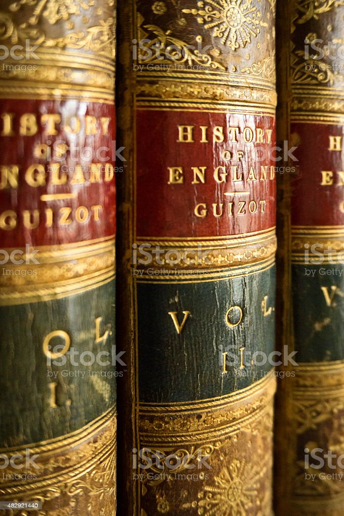 Antique Books - History of England stock photo