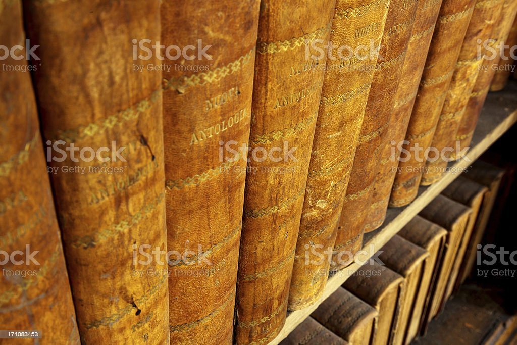 Antique Books stock photo