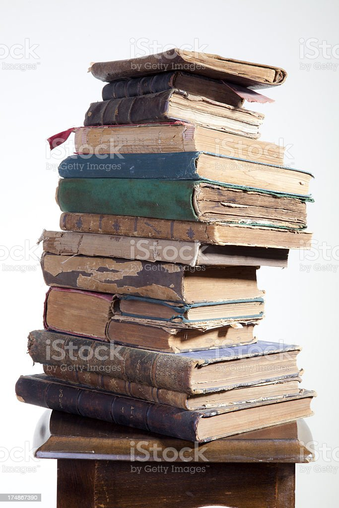 Antique Books royalty-free stock photo