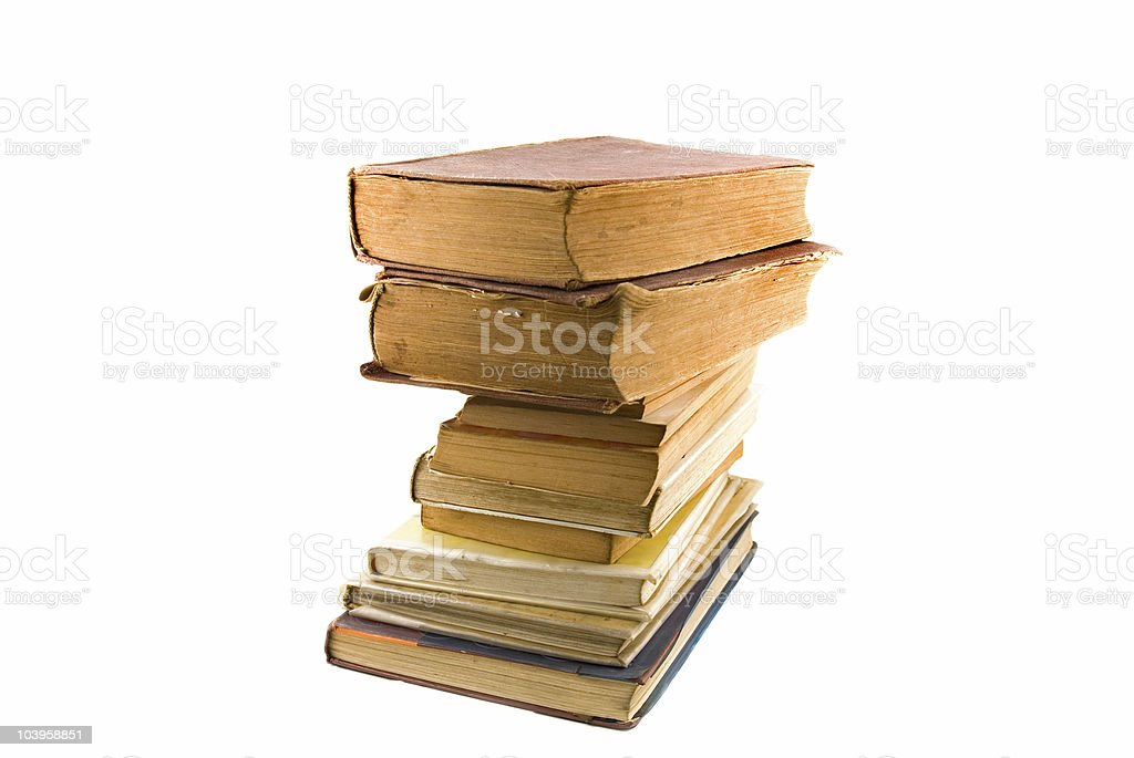 antique books  stack stock photo