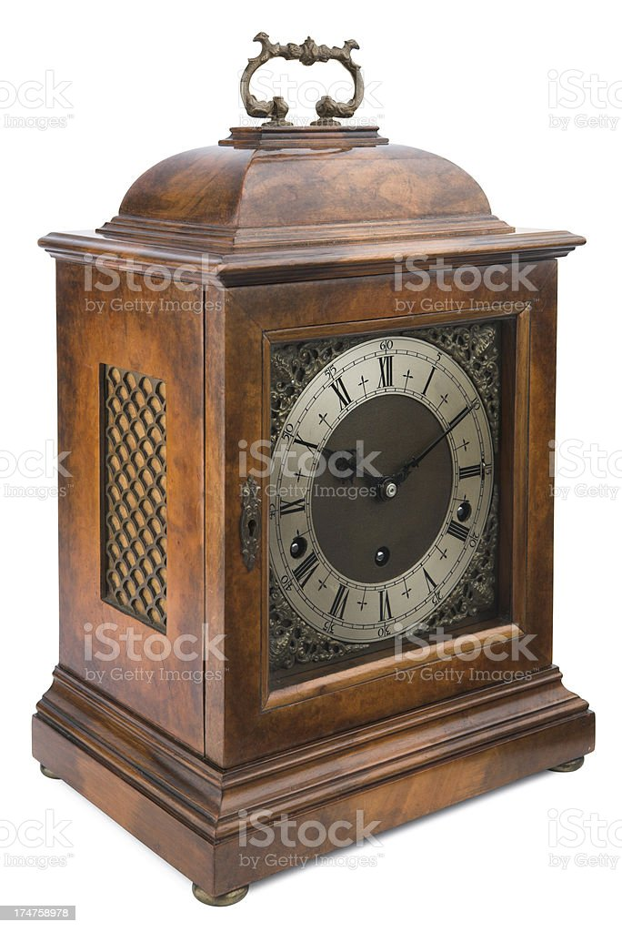 Antique Bracket Clock stock photo