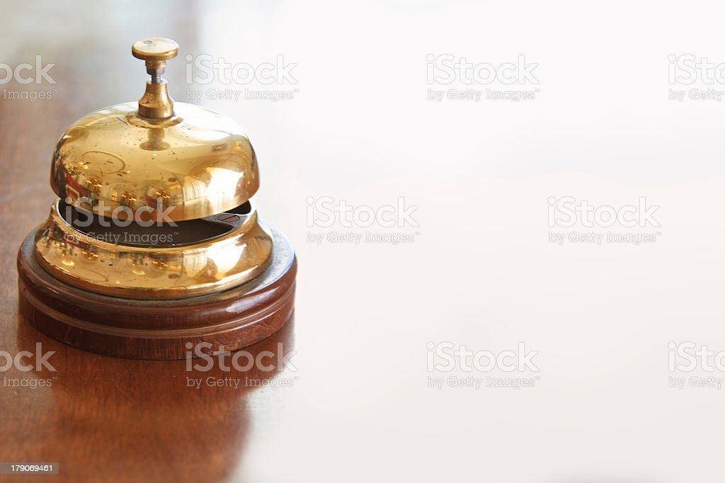 antique brass bell royalty-free stock photo