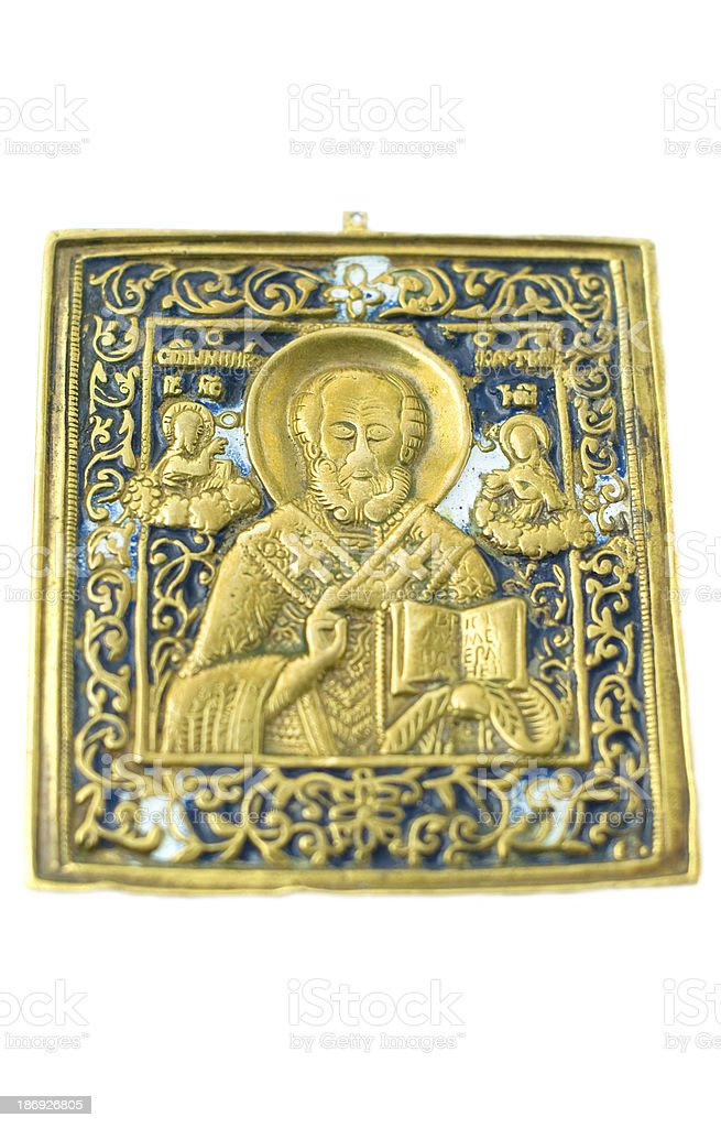 antique brass icon royalty-free stock photo